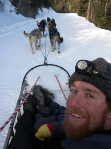 Dogsledding up the Auto Road with Musher Chase